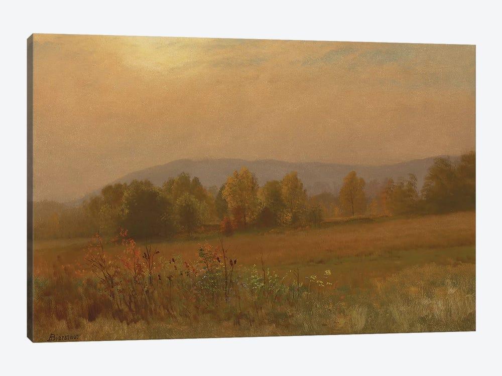 Autumn landscape, New England  by Albert Bierstadt 1-piece Canvas Art Print
