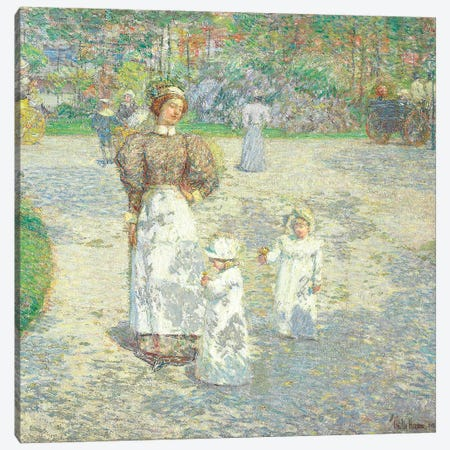 Spring in Central Park, 1908  Canvas Print #BMN5821} by Childe Hassam Canvas Print