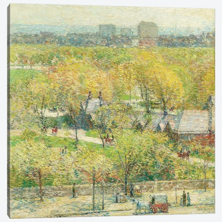 Across the Park, 1904  Canvas Print #BMN5822} by Childe Hassam Canvas Art Print