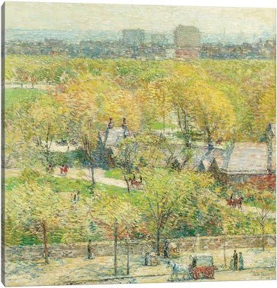 Across the Park, 1904  Canvas Art Print