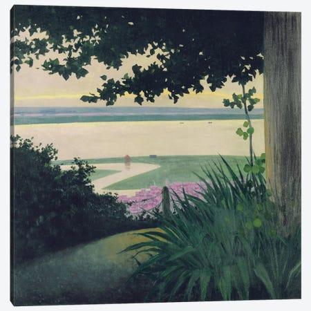 Honfleur and the Baie de la Seine, 1910  Canvas Print #BMN5823} by Felix Edouard Vallotton Art Print