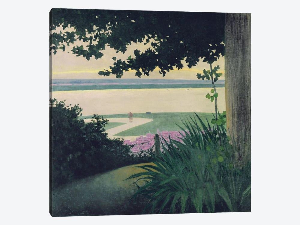 Honfleur and the Baie de la Seine, 1910  by Felix Edouard Vallotton 1-piece Canvas Print
