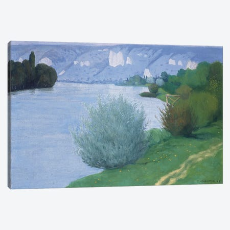 The Seine near Les Andelys, 1916  Canvas Print #BMN5824} by Felix Edouard Vallotton Canvas Art