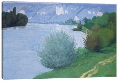 The Seine near Les Andelys, 1916  Canvas Art Print