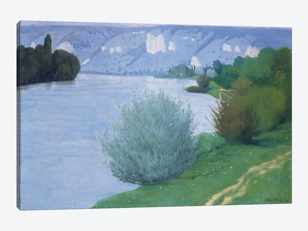The Seine near Les Andelys, 1916  by Felix Edouard Vallotton 1-piece Canvas Art