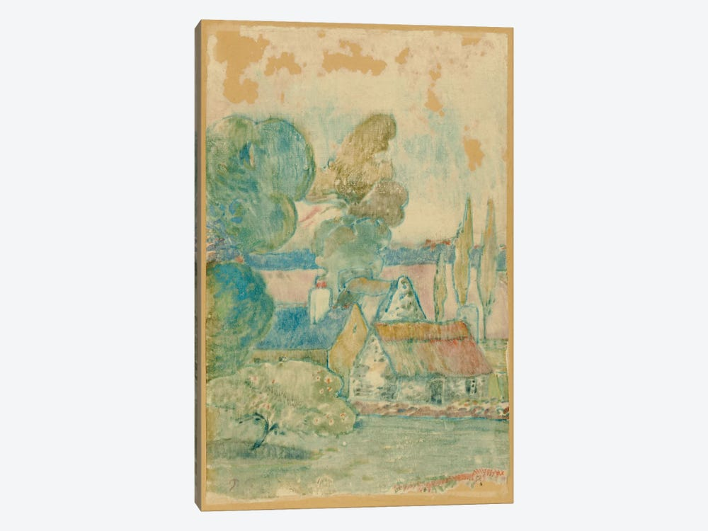 Les Chaumieres  by Paul Gauguin 1-piece Canvas Wall Art