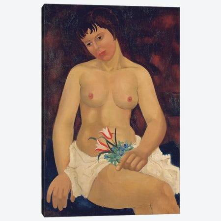 Nude with Tulips, 1927  Canvas Print #BMN5829} by Christopher Wood Canvas Print