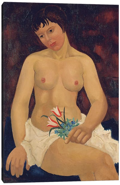 Nude with Tulips, 1927  Canvas Art Print