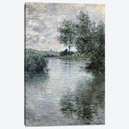 The Seine at Vetheuil, 1879  Canvas Print #BMN582} by Claude Monet Canvas Print