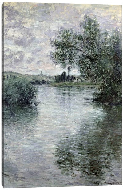 The Seine at Vetheuil, 1879  Canvas Art Print