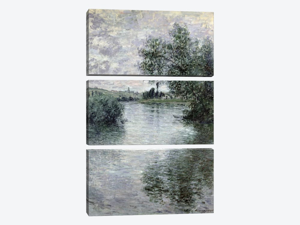 The Seine at Vetheuil, 1879  by Claude Monet 3-piece Art Print