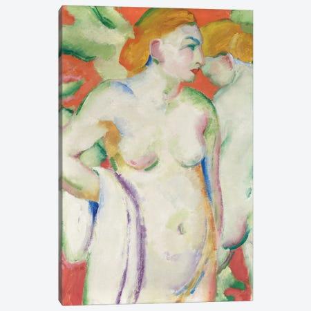 Nudes in Cinnabar  Canvas Print #BMN5833} by Franz Marc Canvas Wall Art