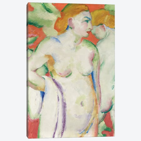 Nudes in Cinnabar  Canvas Print #BMN5833} by Franz Marc Canvas Wall Art