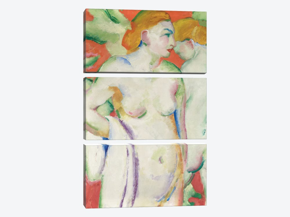 Nudes in Cinnabar  by Franz Marc 3-piece Canvas Artwork