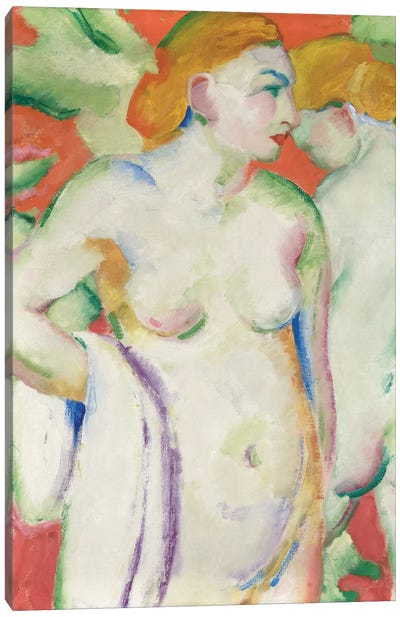 Nudes in Cinnabar  Canvas Art Print