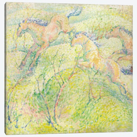 Jumping Horses, 1910  Canvas Print #BMN5834} by Franz Marc Canvas Art Print