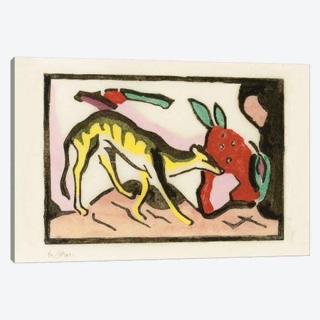 Mythical animal  Canvas Print #BMN5835} by Franz Marc Art Print