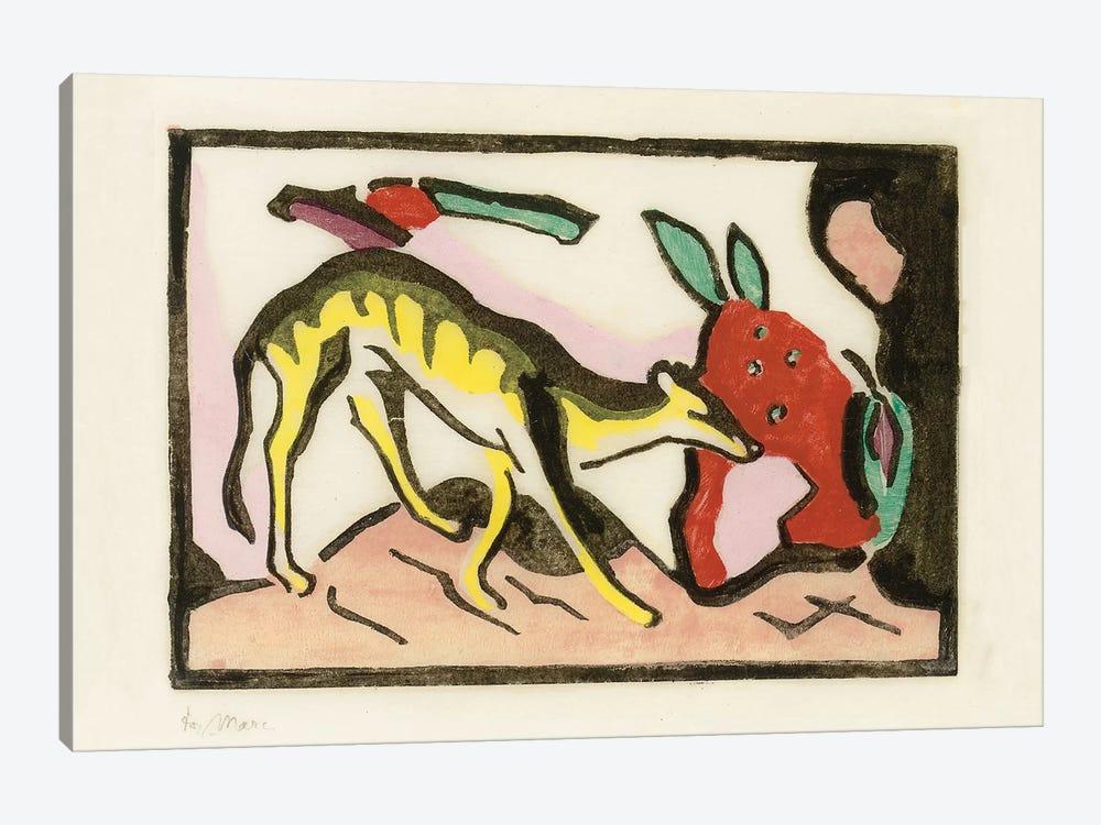 Mythical animal  by Franz Marc 1-piece Canvas Artwork