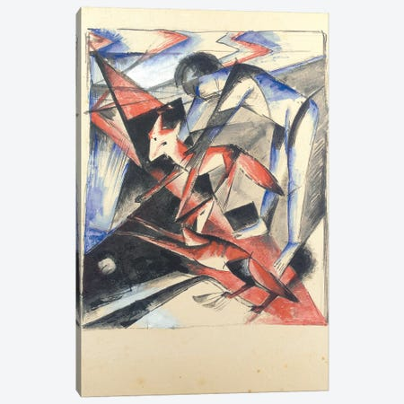 Noah and the Fox, 1913  Canvas Print #BMN5836} by Franz Marc Canvas Art Print