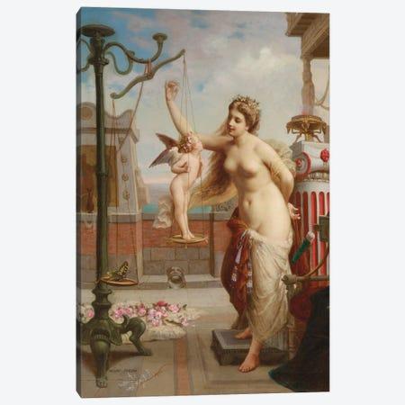 Weighing Cupid  Canvas Print #BMN5837} by Henri Pierre Picou Art Print