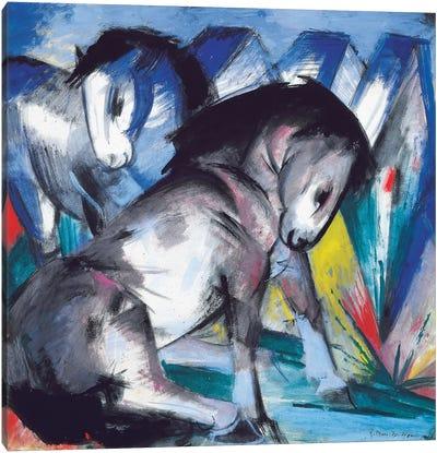 Two Horses, 1913  Canvas Art Print