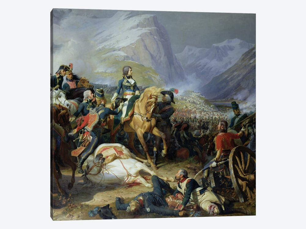The Battle of Rivoli, 1844   by Felix Philippoteaux 1-piece Canvas Wall Art