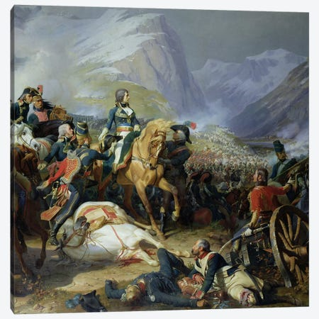 The Battle of Rivoli, 1844   3-Piece Canvas #BMN583} by Felix Philippoteaux Canvas Print