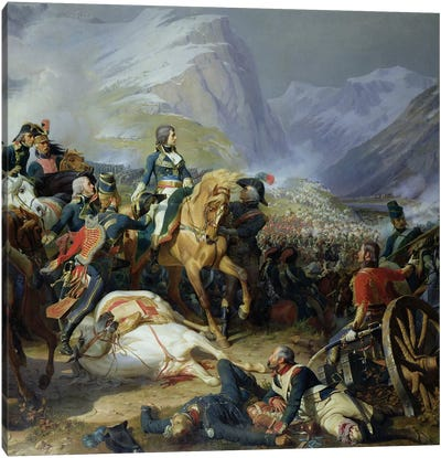 The Battle of Rivoli, 1844   Canvas Art Print