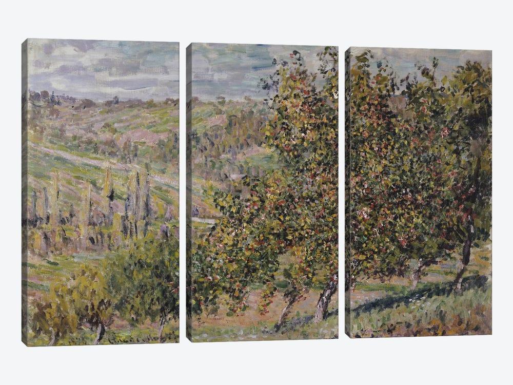 Apple Blossom, 1878  by Claude Monet 3-piece Canvas Print