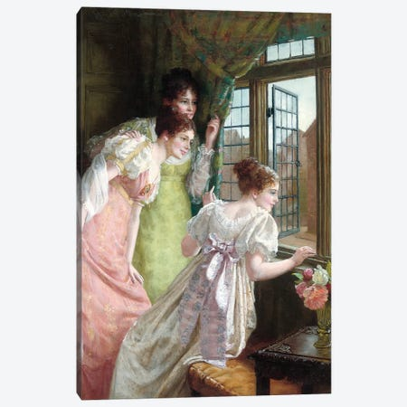 The Squire's Arrival  Canvas Print #BMN5844} by Mary E. Harding Canvas Artwork