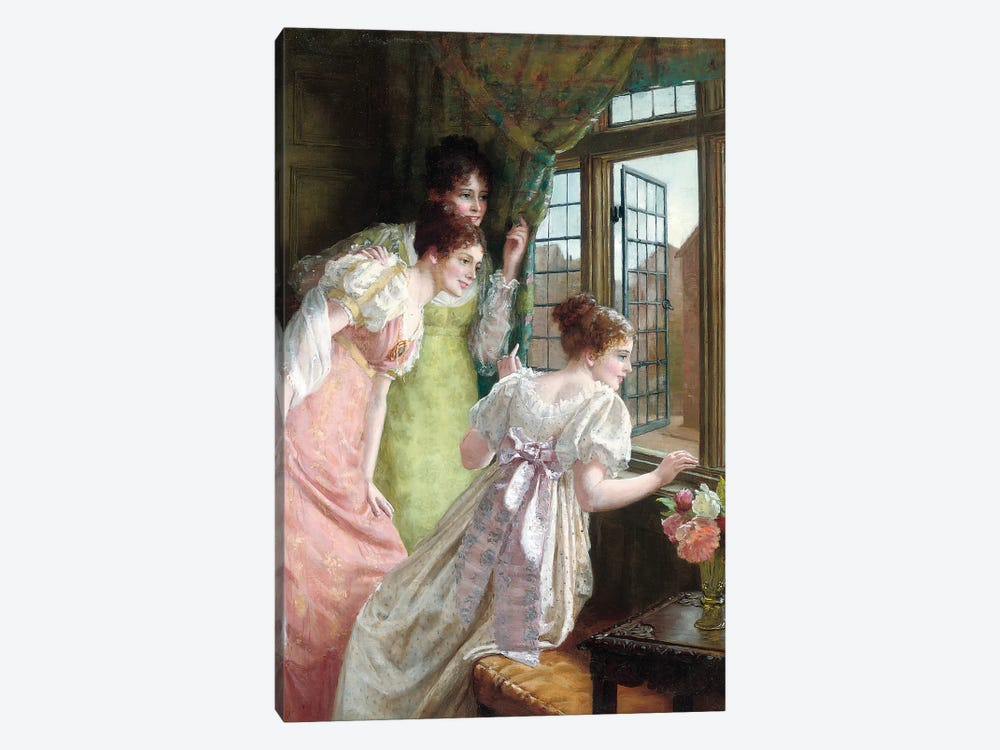 The Squire's Arrival  by Mary E. Harding 1-piece Canvas Artwork