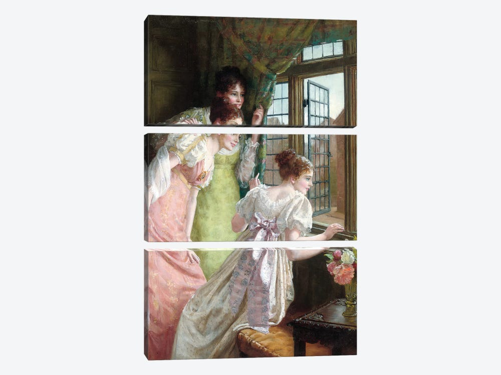 The Squire's Arrival  by Mary E. Harding 3-piece Canvas Wall Art