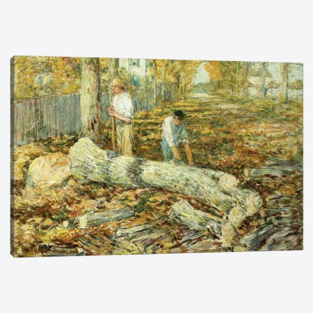 Woodcutters  3-Piece Canvas #BMN5848} by Childe Hassam Art Print