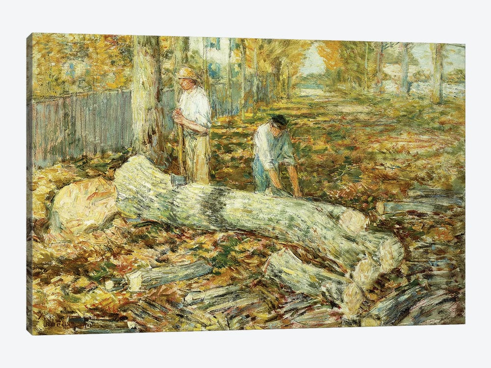 Woodcutters  by Childe Hassam 1-piece Canvas Artwork