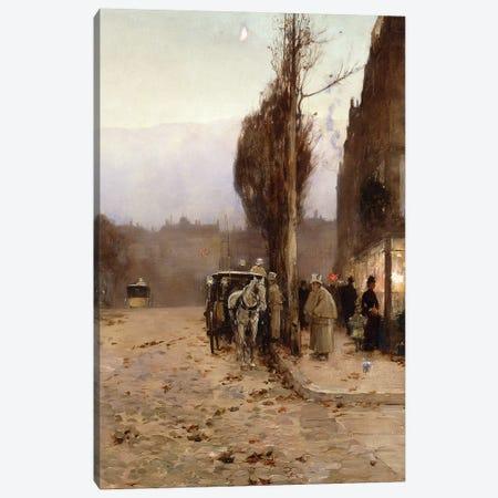Paris at Twilight, 1887  3-Piece Canvas #BMN5849} by Childe Hassam Canvas Art Print