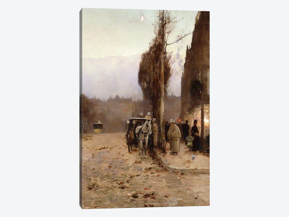 Paris at Twilight, 1887  by Childe Hassam 1-piece Canvas Print