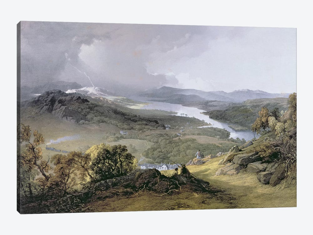 Windermere: from Orrest Head  by James Baker Pyne 1-piece Canvas Print