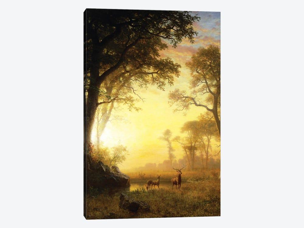 Light in the Forest,  by Albert Bierstadt 1-piece Canvas Print