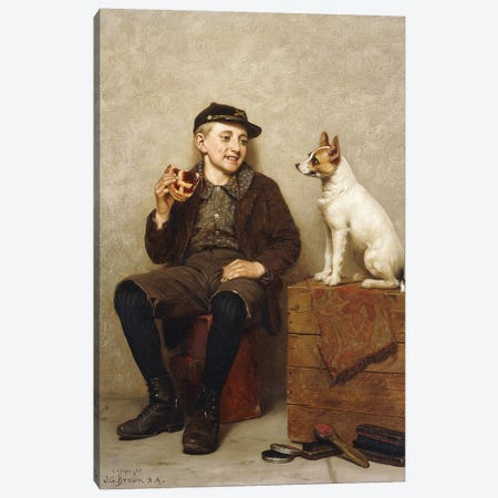 I'll Share With You,  Canvas Print #BMN5851} by John George Brown Canvas Artwork