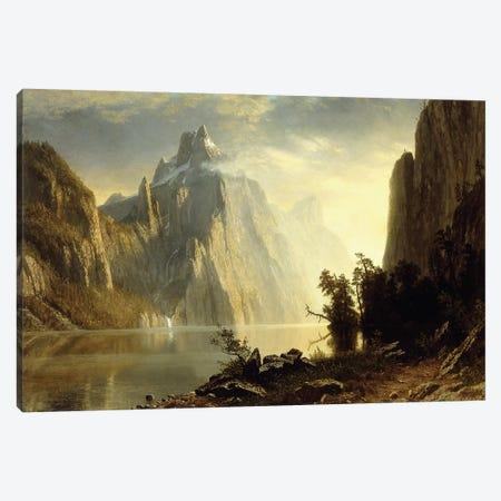 A Lake in the Sierra Nevada, 1867  Canvas Print #BMN5852} by Albert Bierstadt Canvas Wall Art
