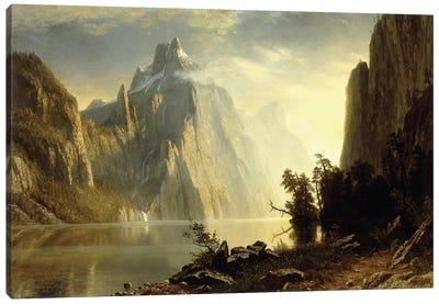 A Lake in the Sierra Nevada, 1867  Canvas Art Print