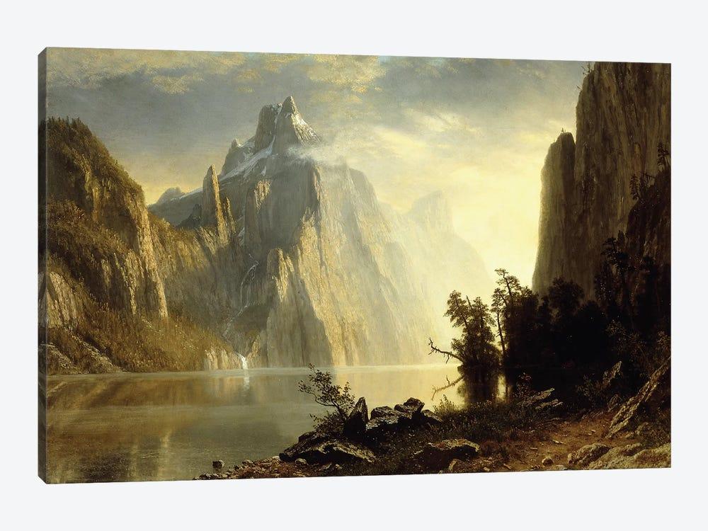 A Lake in the Sierra Nevada, 1867  by Albert Bierstadt 1-piece Canvas Print