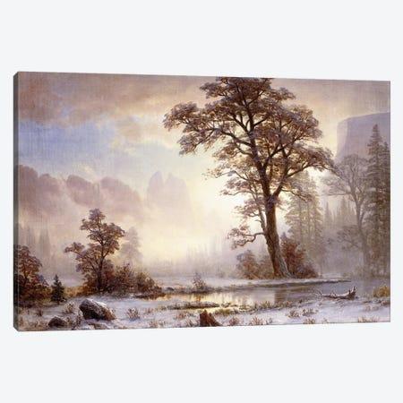 Valley of the Yosemite -Snow Fall,  Canvas Print #BMN5853} by Albert Bierstadt Canvas Wall Art