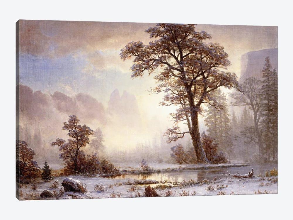 Valley of the Yosemite -Snow Fall,  by Albert Bierstadt 1-piece Canvas Wall Art