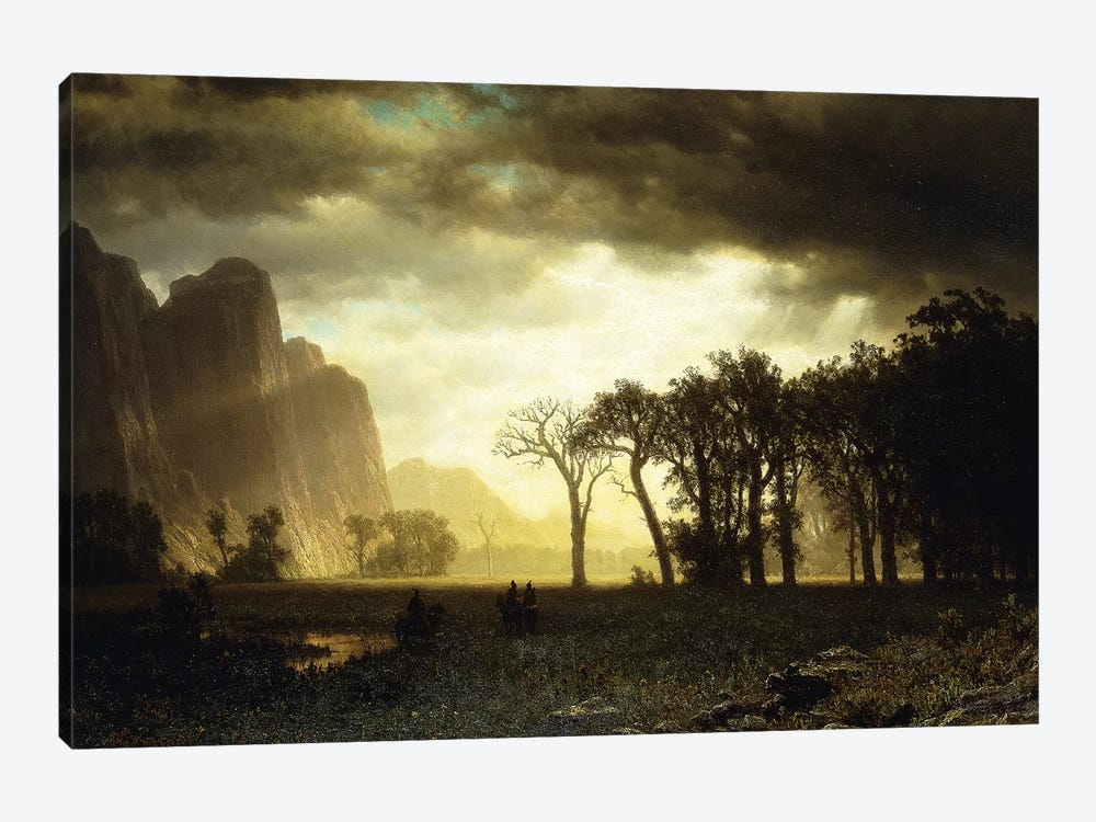 Passing Storm in Yosemite, 1865  by Albert Bierstadt 1-piece Canvas Print