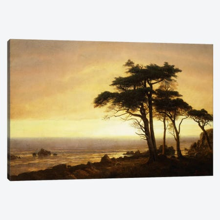California Coast Canvas Print #BMN5855} by Albert Bierstadt Canvas Art Print
