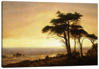 California Coast by Albert Bierstadt Canvas Art Print