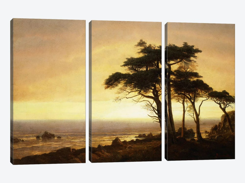 California Coast by Albert Bierstadt 3-piece Canvas Artwork