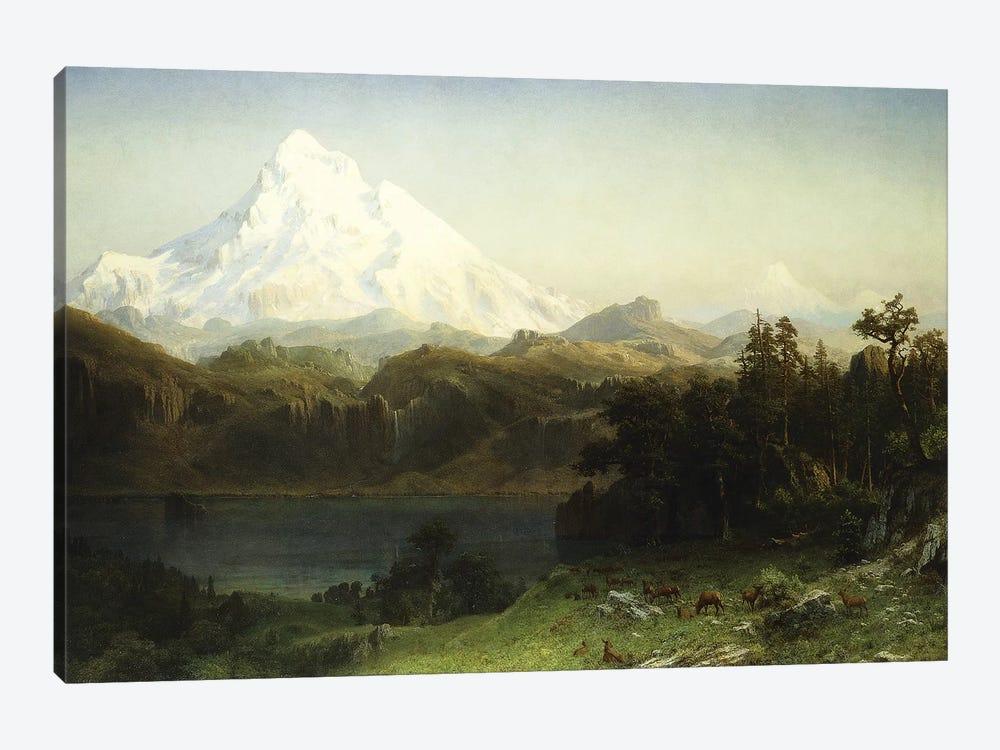 Mount Hood in Oregon,  by Albert Bierstadt 1-piece Art Print