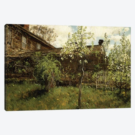 Old House, Dorchester, 1884  Canvas Print #BMN5857} by Childe Hassam Canvas Art Print